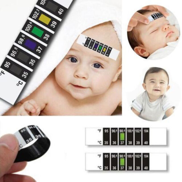 Hot Baby Kids Forehead Strip Head Thermometer Fever Body Temperature Test Tool