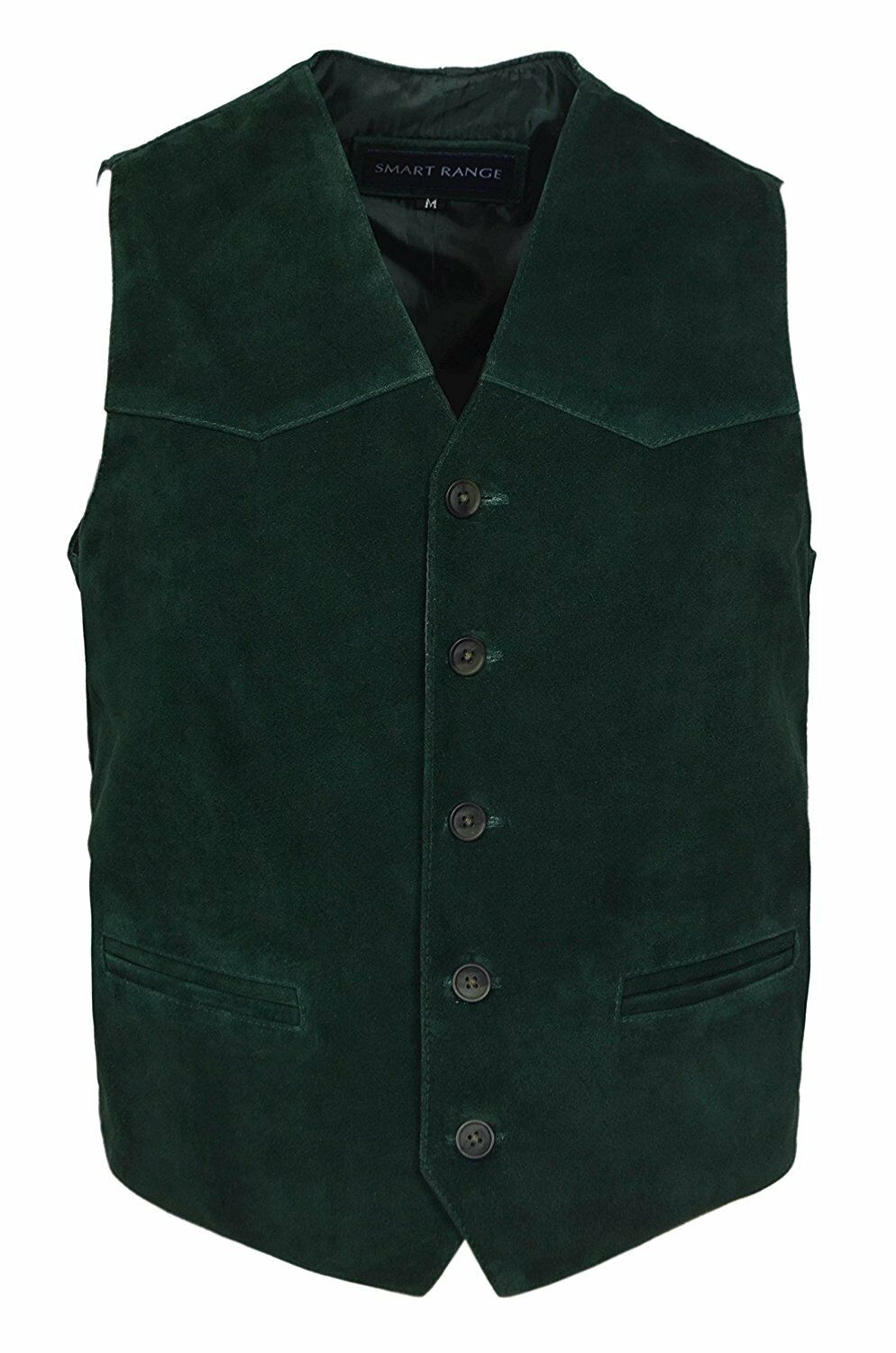 Men's Wayne New Party Fashion Stylish Green Real Soft Suede Leather Waistcoat