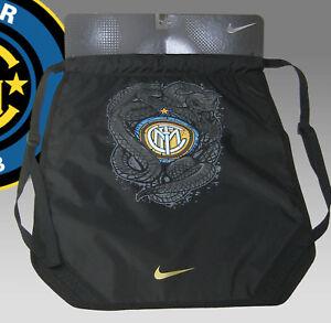 Details about Neu Nike Inter Mailand Fußball Club Kordelzug Rucksack Rucksäcke Schwarz