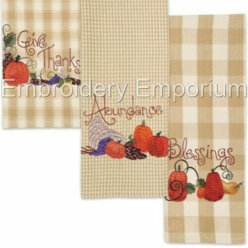 PUMPKINS A PLENTY COLLECTION MACHINE EMBROIDERY DESIGNS ON CD OR USB