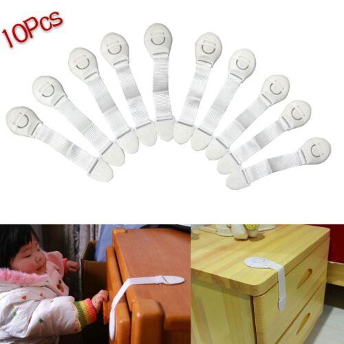 1//10 Pc Safety Child Infant Baby Kids Drawer Door Cabinet Cupboard Toddler Locks