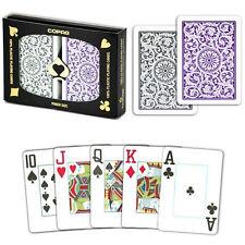 New COPAG 100% Plastic Playing Cards Poker Size Jumbo Index Purple Grey