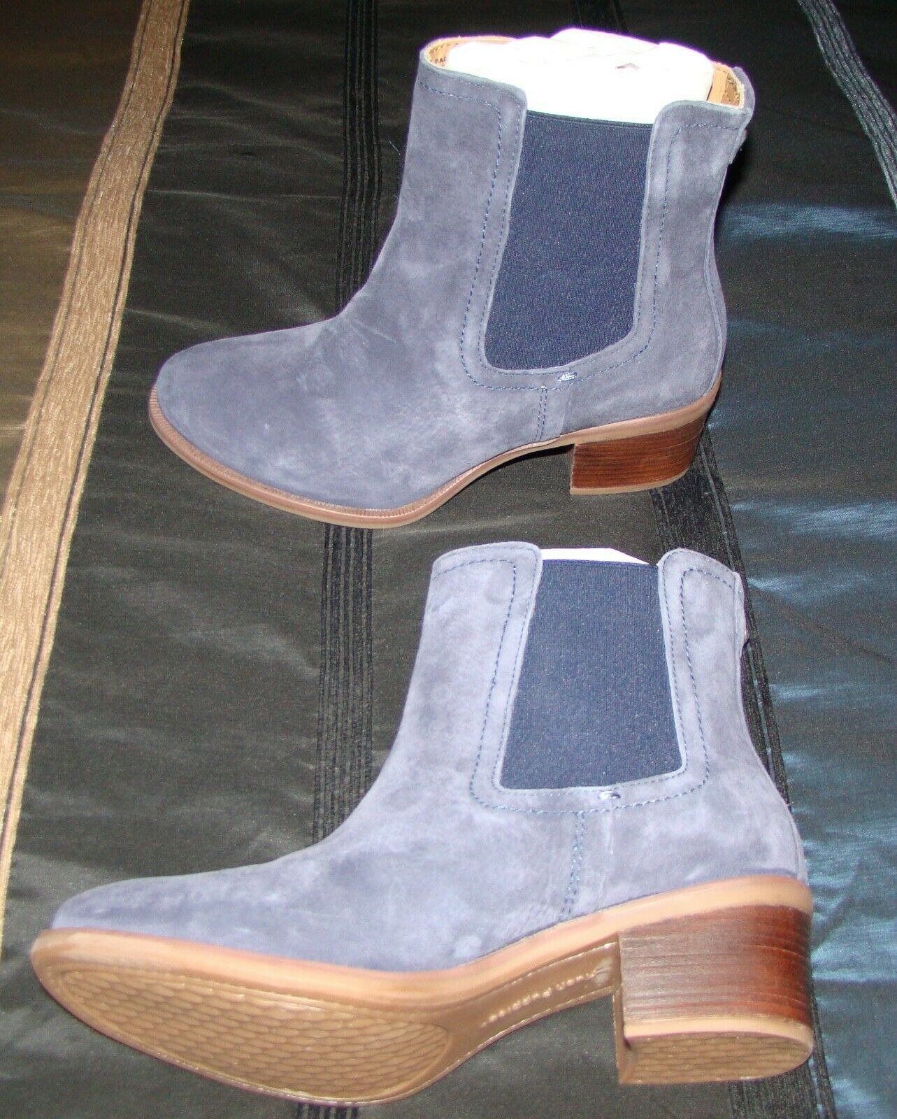 Hush Puppies Landa Nellie Women's Pull‑On Ankle Boots - US Size 8.5 M, Navy
