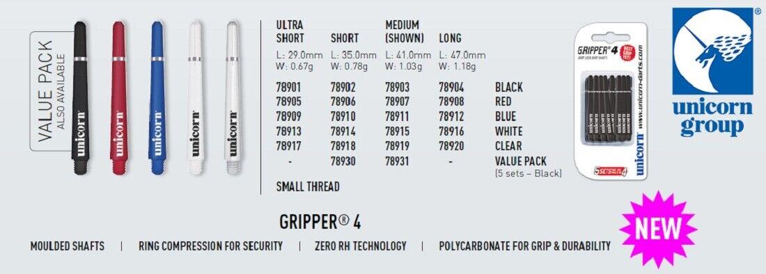 Unicorn Gripper 4 Shaft 12 Satz x-sh red