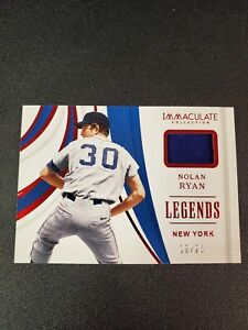 online store 64b93 5af23 Details about NOLAN RYAN 2019 Panini Immaculate Legends Game-Used Jersey  Relic 19/25