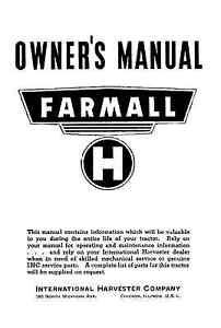 farmall h owners operators and maintenance service manual int 5730 rh ebay com farmall h service manual farmall h manual free