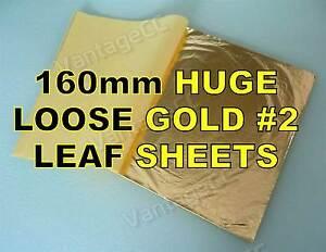 25x-Gold-2-Loose-Leaf-Sheets-in-Booklets-160mm-Gilding-Crafts-Scrapbooking