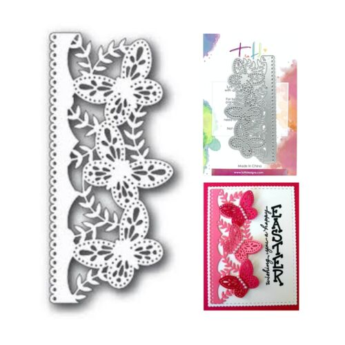 Border Metal Die Cut Butterfly Strip Tutti Designs Cutting Dies TUTTI-104