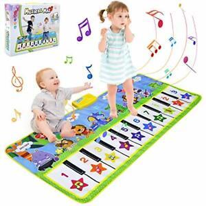 BelleStyle Tappeto Musicale Bambini 135x59cm Grande Tappetino Pianoforte Bambino