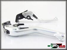 Strada 7 CNC Short Carbon Fiber Levers KTM 1190 Adventure / R 2013 - 2014 Silver