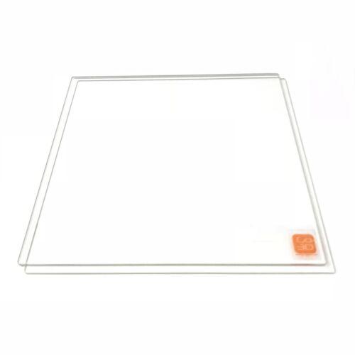 300mm x 300mm Borosilicate Glass Plate Bed Flat Polished Edge 4 3D Print 2 Pack