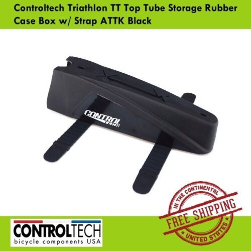 Controltech Triathlon TT Top Tube Storage Rubber Case Box with Strap ATTK Black
