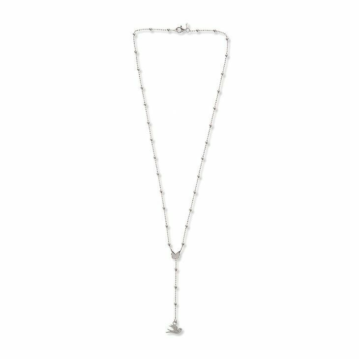 Collana Donna Colomba Jack&Co in argentoo argentoo argentoo 925 con Ciondolo Colomba e Farfalla 8e4f82