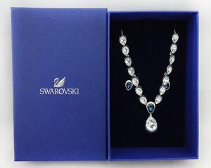 Image is loading SWAROVSKI-Necklace-amp-Earrings-Royal-Blue-amp-White- f06b7e9fdf