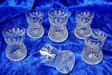 6x Edinburgh Crystal Thistle Old Fashioned Whisky Tumbler 4 in 8oz First Quality
