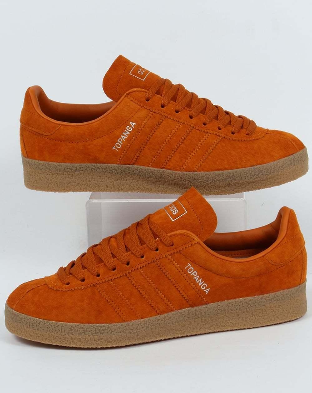 new styles 4a7c1 8c54a Adidas Originals - Adidas Topanga Trainers in Craft Ochre Orange suede gum  new