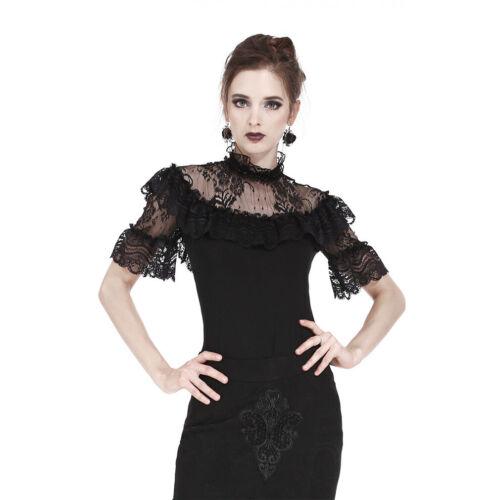 Hidden Sparkle Dark In Love Gothic Goth Victorian Vintage Bluse Oberteil Top