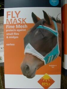 UV Protection Shires Field Durable Fly Mask With Ears in Black