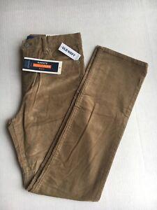 Old-navy-khaki-built-in-flex-karate-corduroy-adjust-waist-pants-for-boys-sze-14