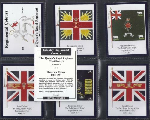 HUNTER-FULL SET EXC+++ WEST SURREY L7 CARDS THE QUEENS ROYAL REGIMENT