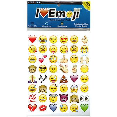 Cute Fashion Lovely 48 Die Cut Emoji Smile Face Sticker  Phone Laptop Decor