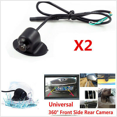 Symbol Of The Brand 2x360° Hd Rotatable Car Front Side Rearview Mirror Reverse Backup Camera Parking To Make One Feel At Ease And Energetic Car Video