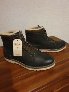 big sale 9b11e a940c Details zu NEU Mustang Herrenschuhe Gr 42 Schuhe High Top Sneaker gefüttert  Stiefel. Grau.