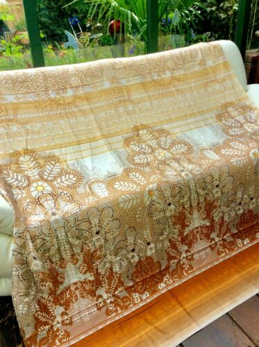 Bassetti satén sustancia Teva Terra beige 280x140 cortina mantel ropa de cama