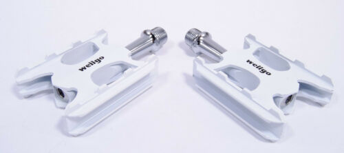 WELLGO WR-1 SUPER LITE BICYCLE PEDALS C006 WHITE 99g LIGHT Ships from USA