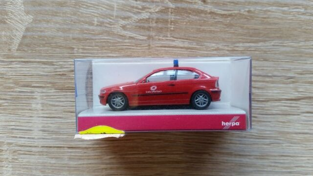 Herpa 045865 - 1/87 BMW 3er Compact Elw - Feuerwehr Offenbach - Neu