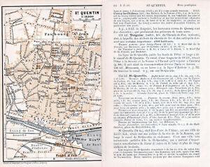 02 St. Quentin 1913 pt. plan ville + guide (4 p) Champs-Elysées Synagogue Gayant fWeAjuzq-08044346-585677054