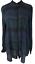 NWT-ANN-TAYLOR-LOFT-Navy-Green-Plaid-Long-Sleeve-Blouse-Top-Women-039-s-Size-L thumbnail 1