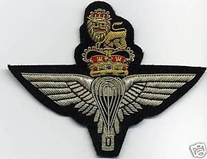 PARACHUTE-REGIMENT-Badge-englischer-Fallschirmspringer-Aufnaeher-handgestickt