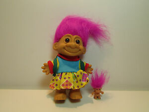 """5/"""" Russ Troll Doll SCHOOL GIRL WITH BACKPACK NEW IN ORIGINAL WRAPPER"""