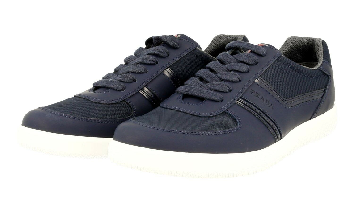 AUTH LUXURY PRADA SNEAKERS SHOES 4E3026 BALTIC BLUE NEW US 12