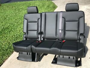 Enjoyable Details About 2019 Tahoe Yukon Escalade 2Nd Row Black 60 40 Split Bench Seats Second Row Uwap Interior Chair Design Uwaporg