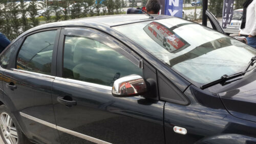 2005-2008 Ford Fiesta Chrome Mirror Cover 2Pcs S.Steel