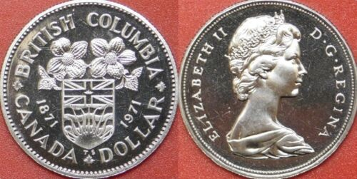 Proof Like 1971 Canada British Columbia 1 Dollar From Mint/'s Set