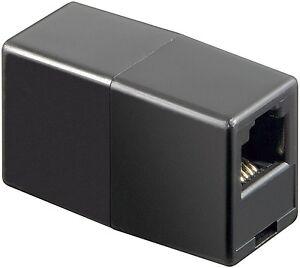 Black-RJ11-ADSL-Cable-Coupler-bt-virgin-plusnet-sky-joiner-broadband-dsl