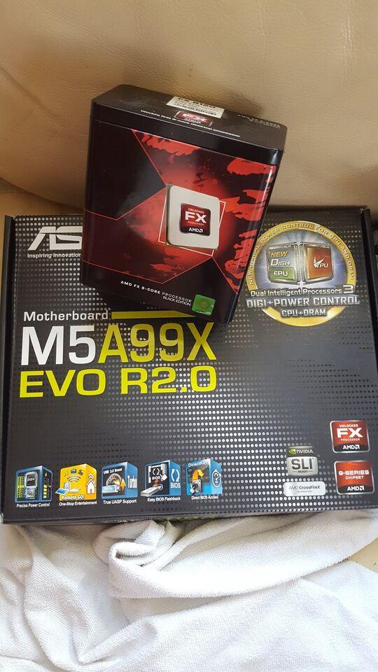 bundkort +grafikkort+cpu+, ASUS, M5A99X EVO