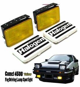 Universal-SUV-Fog-Light-Spot-Lamp-H3-12V-55W-Yellow-Adjustable-Fit-All-Car-AE86