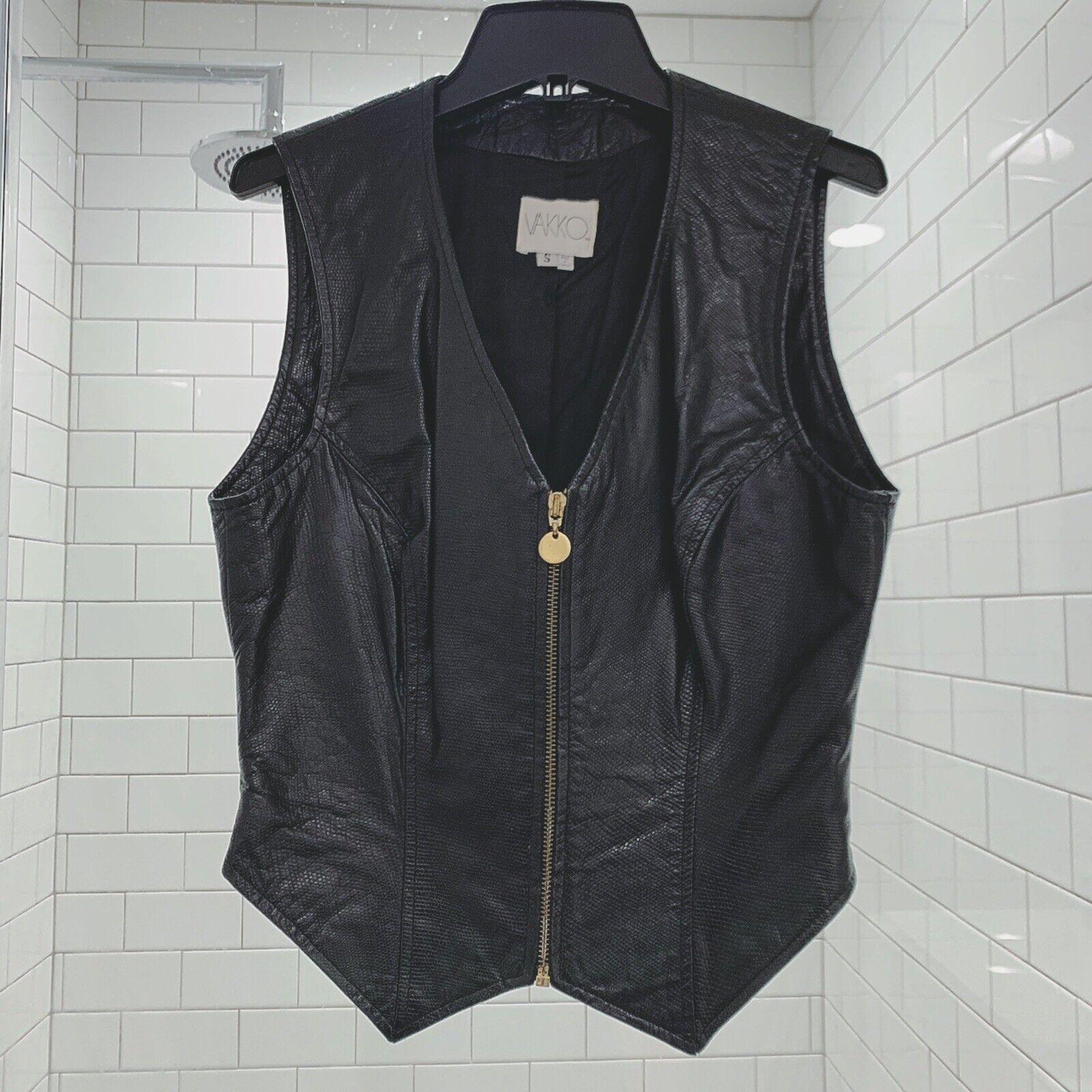 Vakko Vintage Leather Vest SZ S