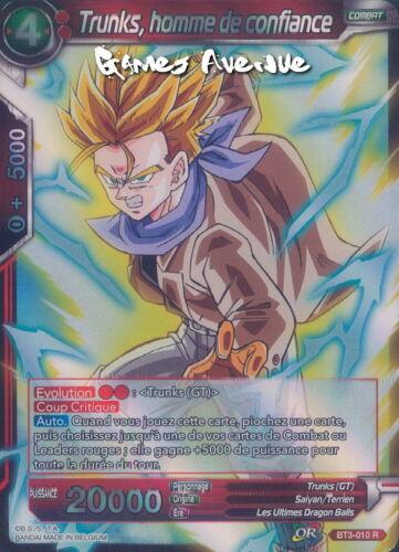 homme de confiance BT3-010 R Trunks Dragon Ball Super Card Game VF//RARE