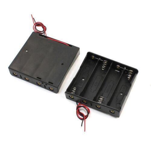 2 Stk Kunststoffkoffer 4 x 18650 3.7V Batterie Halter mit Anschlussdraehte/_ L7V3