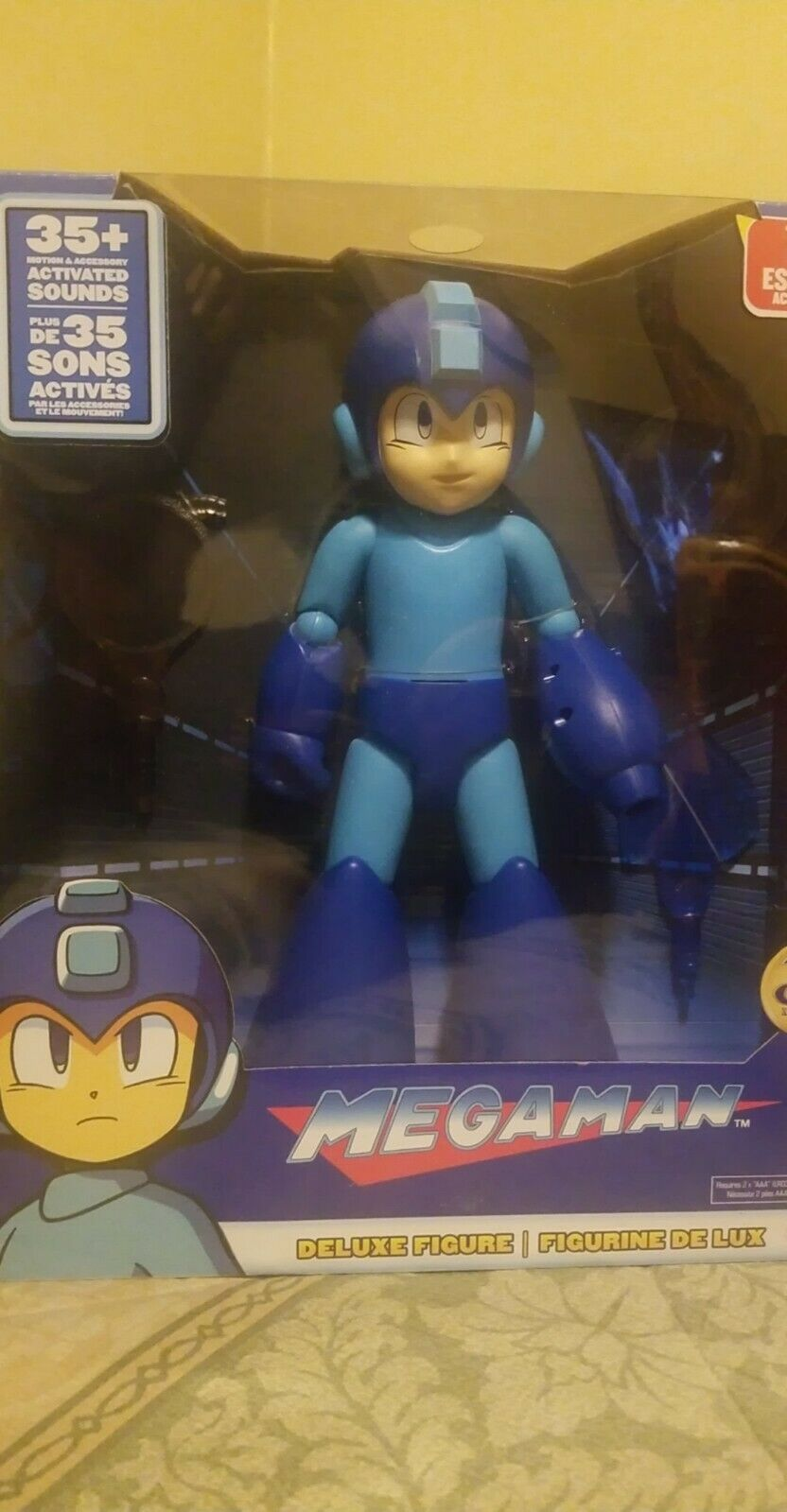 Megaman Deluxe Figure 30th Anniversary 35+ Motion Activated Sounds Accessories