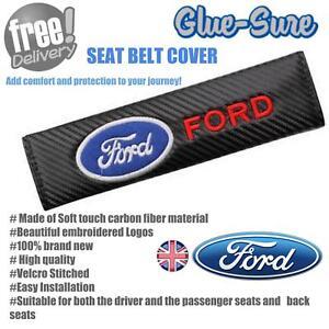 Ford-Car-Seat-Belt-Safety-Shoulder-Strap-Cover-Cushion-Pad-Carbon-Fiber