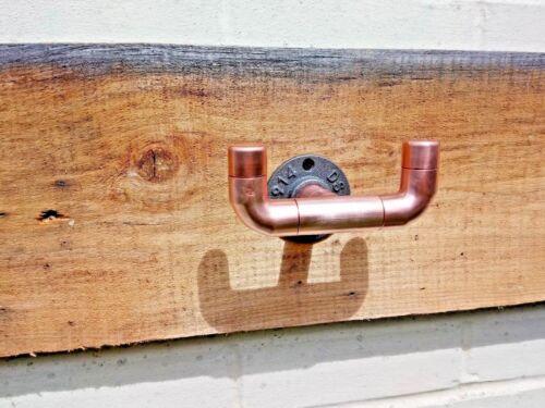 Rustic Vintage Copper Pipe Hooks Industrial Coat // Clothes // Towel Hooks