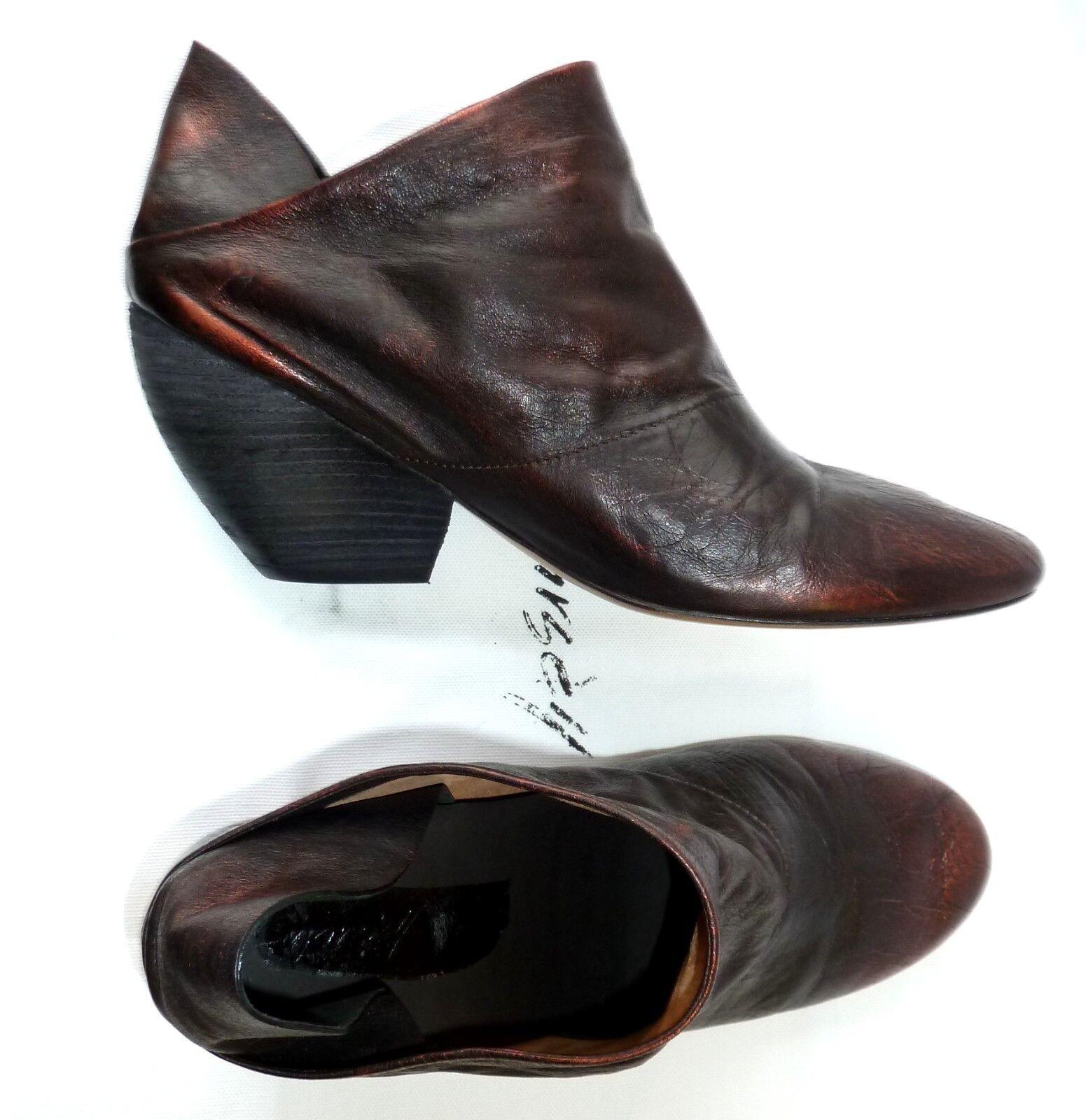 ❌ MARSèLL Marsell Leder Schuhe, Gr.39,5, Bronze, NP