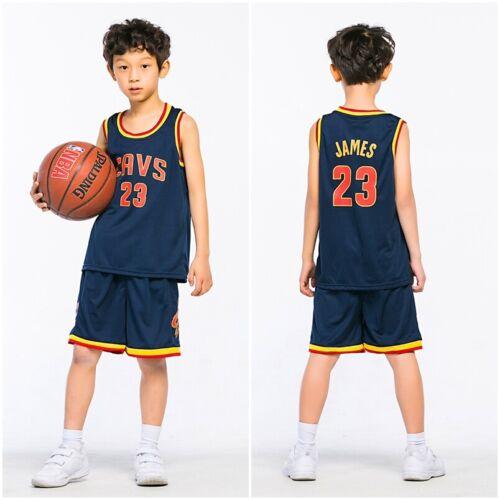 Baby Boys Girls #23 Basketball Kit Jerseys Shorts Set Sportswear 2-14Y