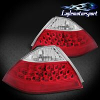 2006 2007 Honda Accord Sedan 4dr Red Clear Rear Brake Tail Lights Lamps Pair on sale